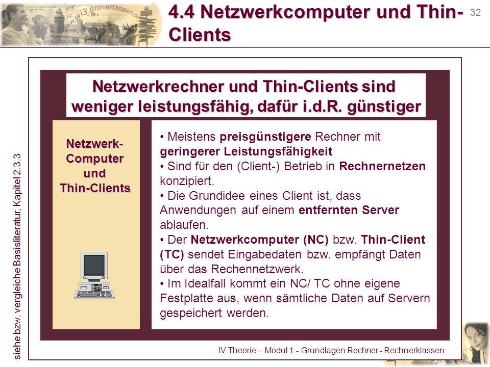 4.4 Netzwerkcomputer und Thin-Clients