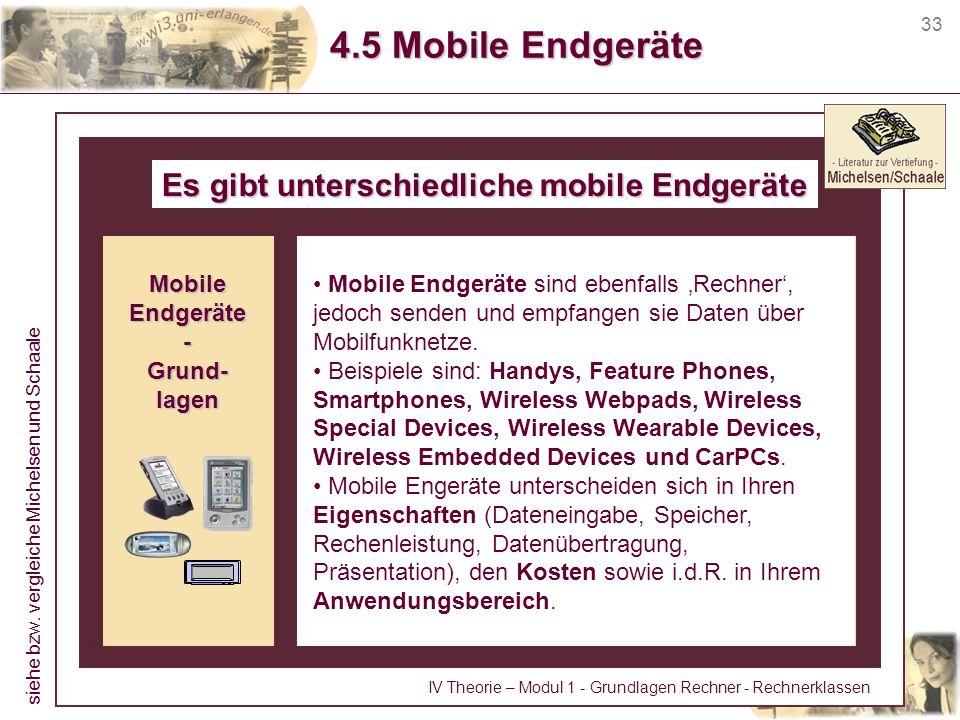 Es gibt unterschiedliche mobile Endgeräte