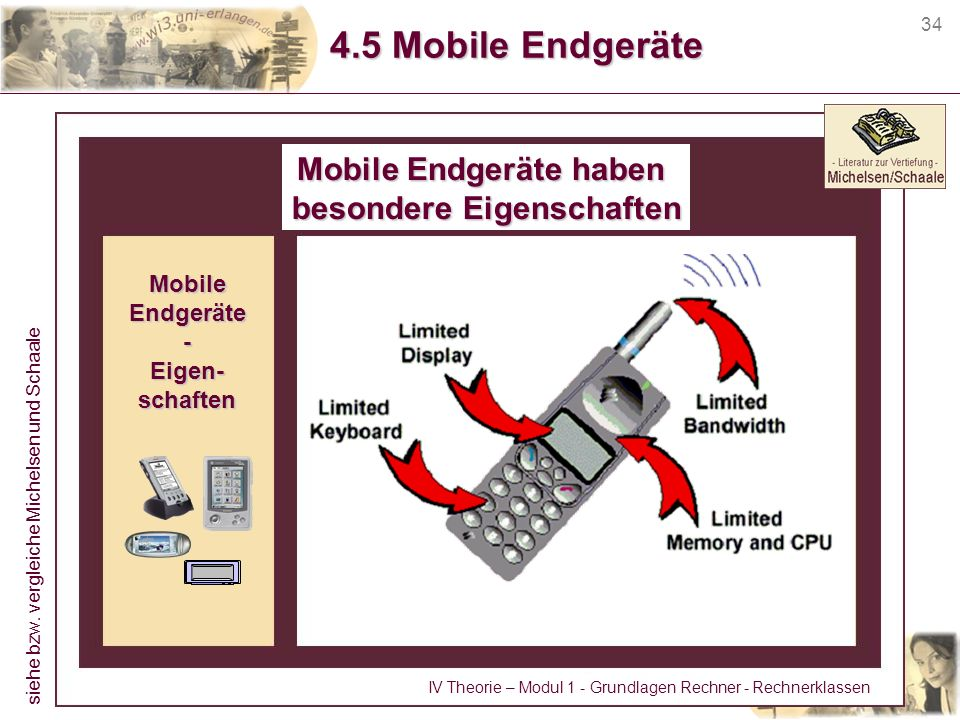 Mobile Endgeräte haben besondere Eigenschaften