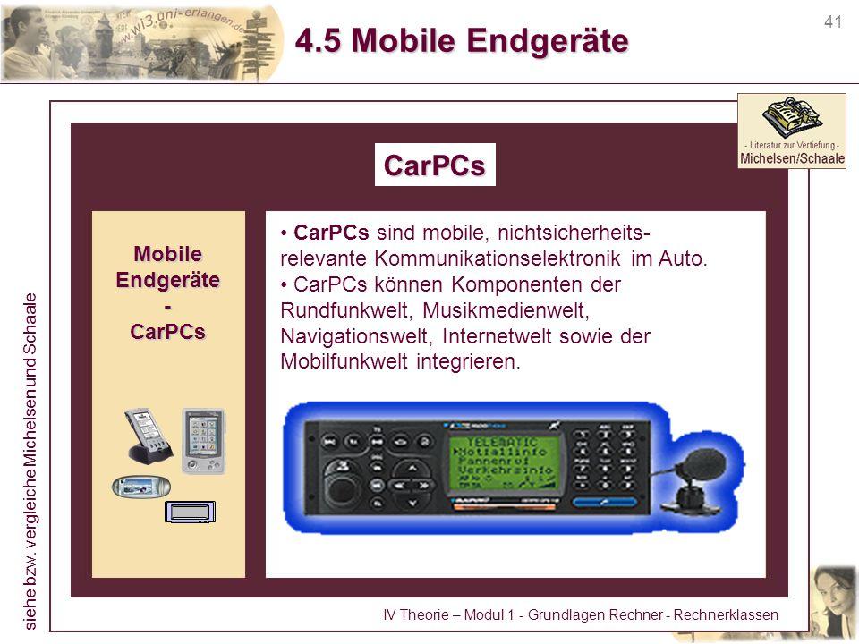 4.5 Mobile Endgeräte CarPCs CarPCs sind mobile, nichtsicherheits-