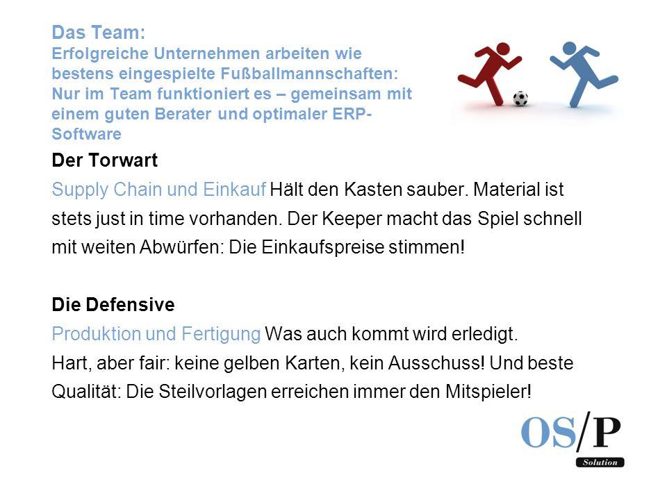 Das Team: Erfolgreiche Unternehmen arbeiten wie bestens eingespielte Fußballmannschaften: Nur im Team funktioniert es – gemeinsam mit einem guten Berater und optimaler ERP-Software