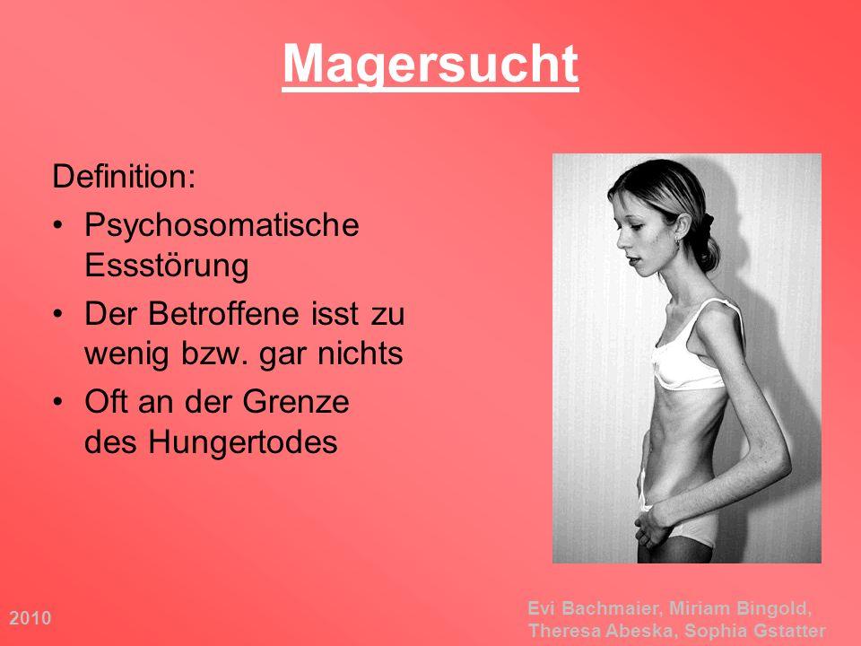 Magersucht Definition: Psychosomatische Essstörung