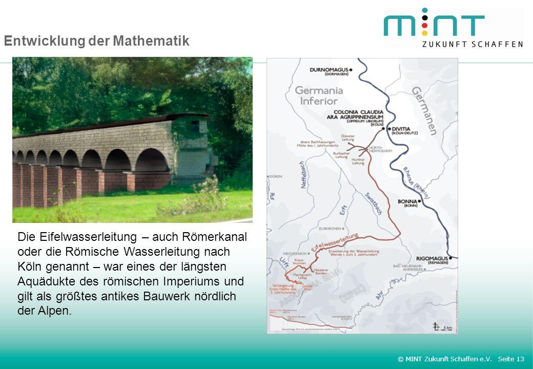 Entwicklung der Mathematik