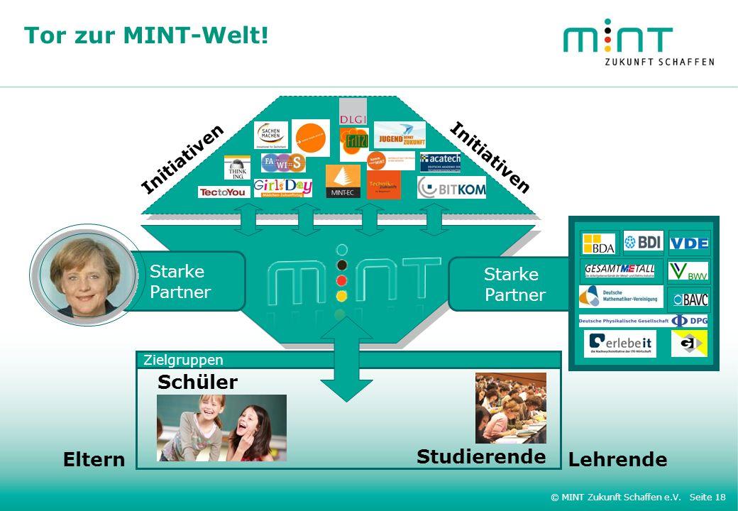 Tor zur MINT-Welt! Schüler Eltern Studierende Lehrende Initiativen