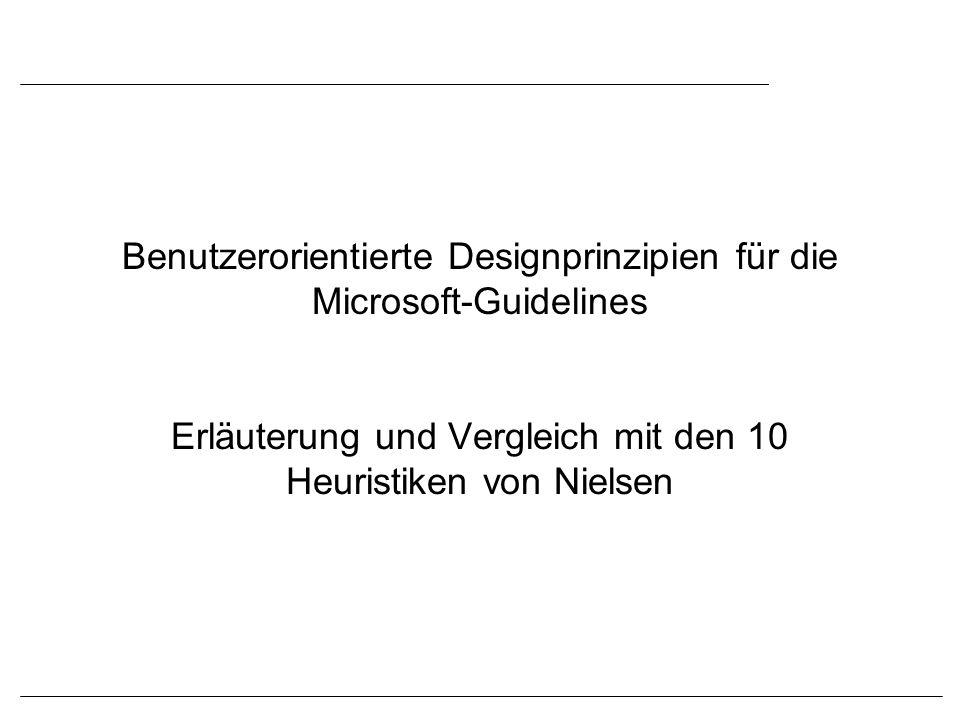 Benutzerorientierte Designprinzipien für die Microsoft-Guidelines