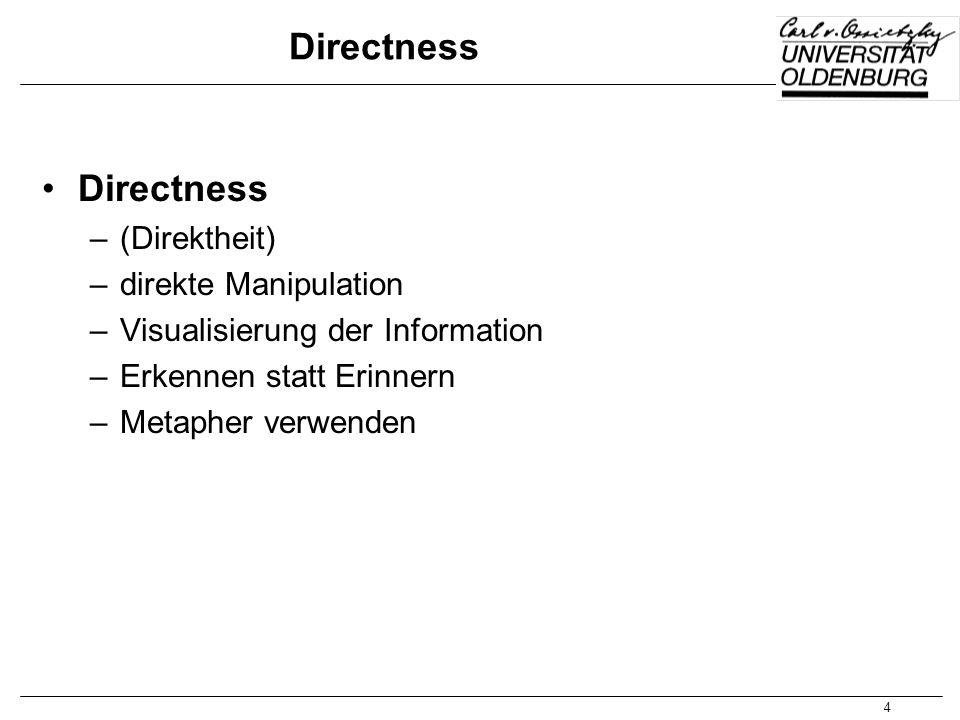 Directness Directness (Direktheit) direkte Manipulation