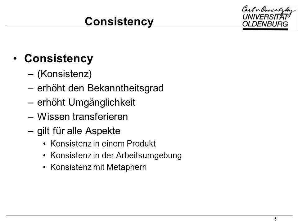 Consistency Consistency (Konsistenz) erhöht den Bekanntheitsgrad