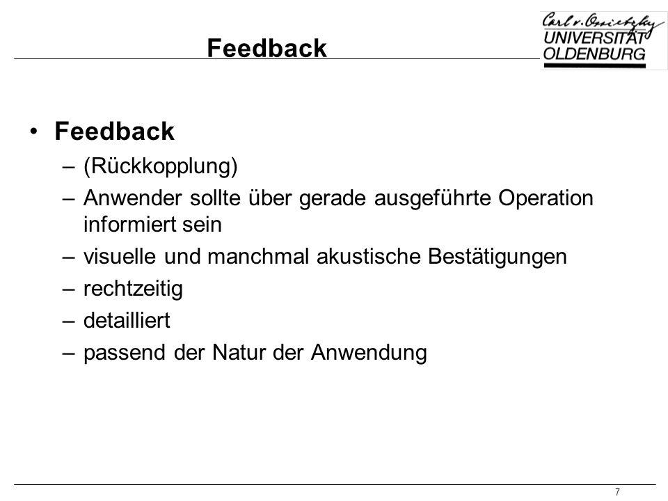 Feedback Feedback (Rückkopplung)