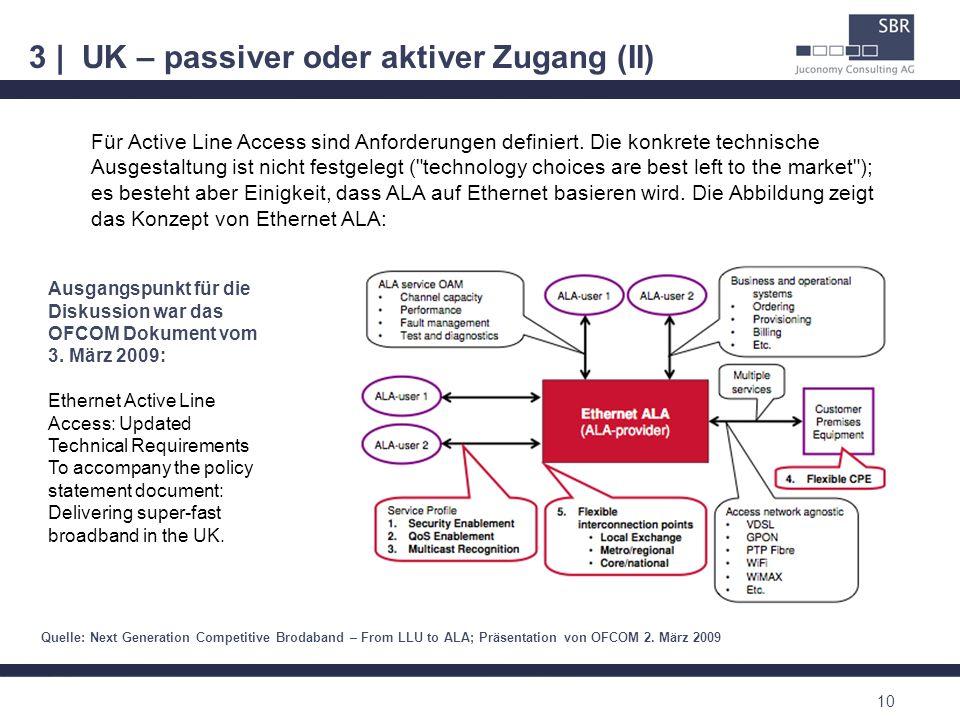 3 | UK – passiver oder aktiver Zugang (II)