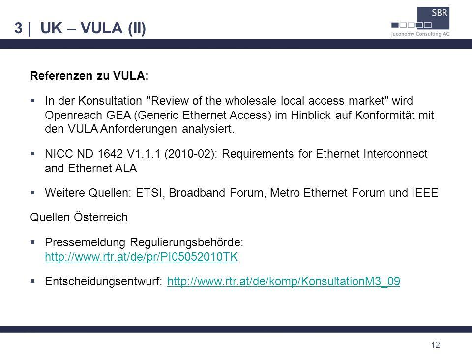 3 | UK – VULA (II) Referenzen zu VULA: