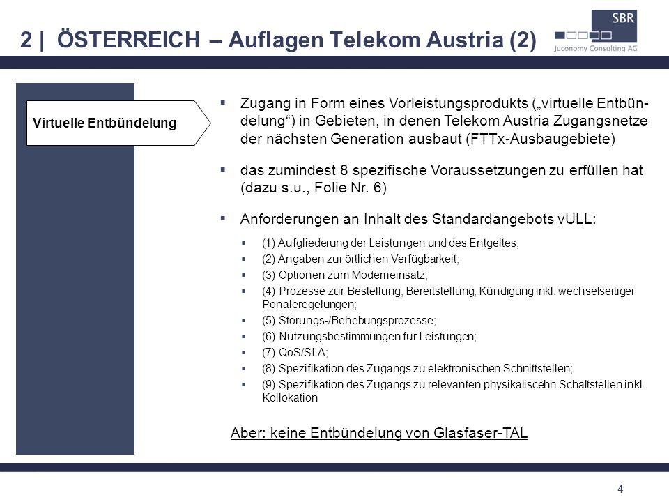 2 | ÖSTERREICH – Auflagen Telekom Austria (2)