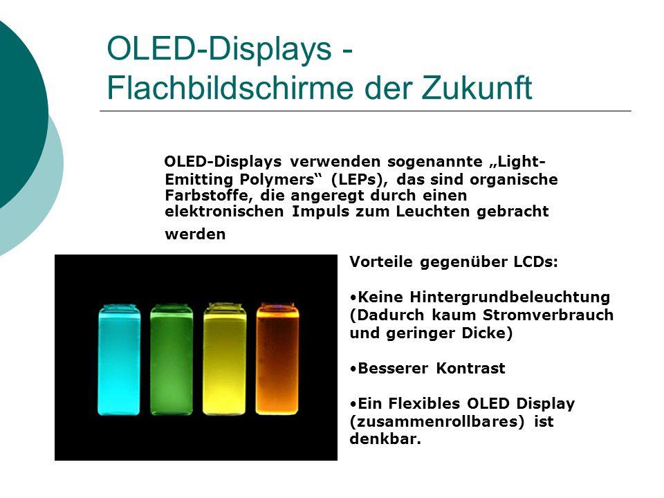 OLED-Displays - Flachbildschirme der Zukunft