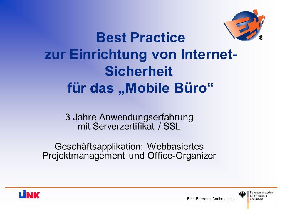 """zur Einrichtung von Internet- Sicherheit für das """"Mobile Büro"""