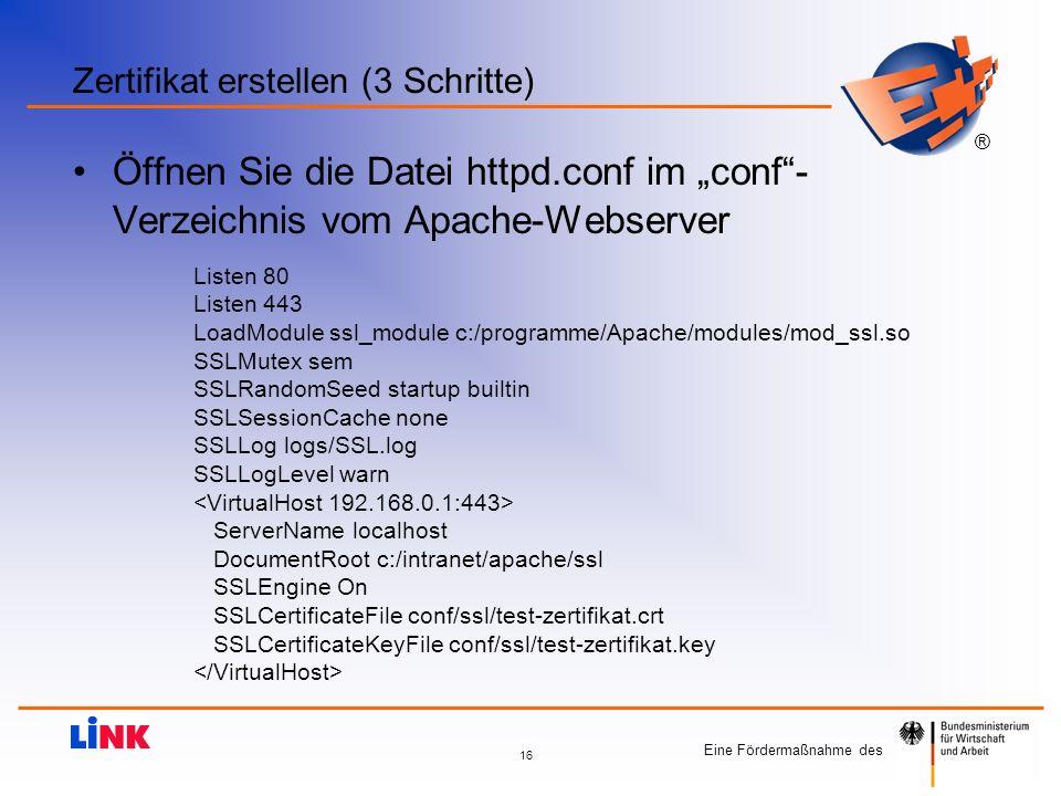 Zertifikat erstellen (3 Schritte)