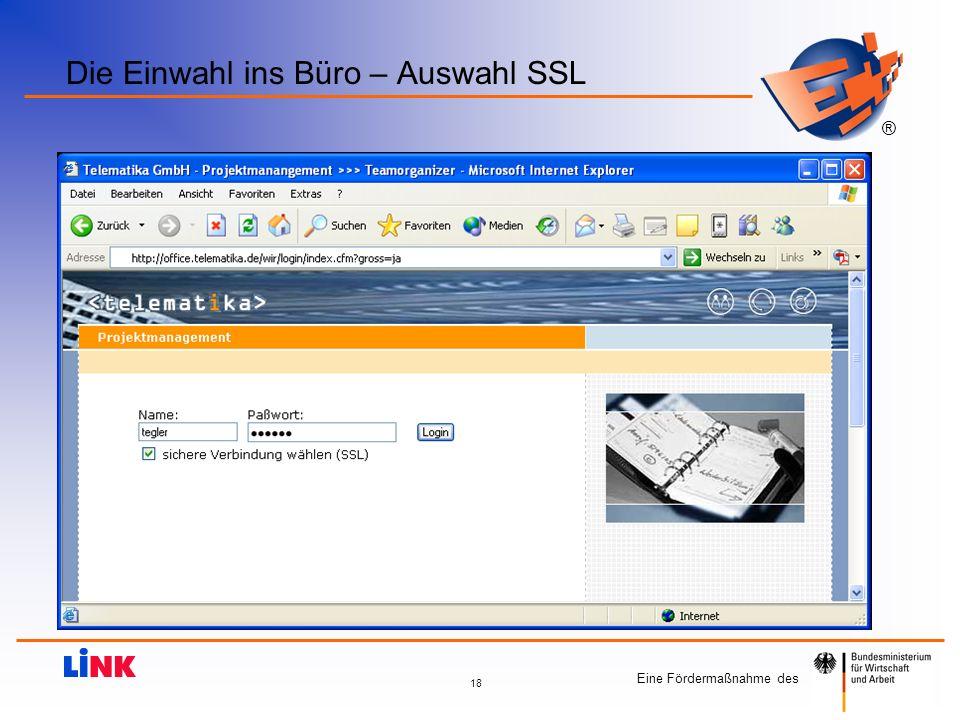 Die Einwahl ins Büro – Auswahl SSL