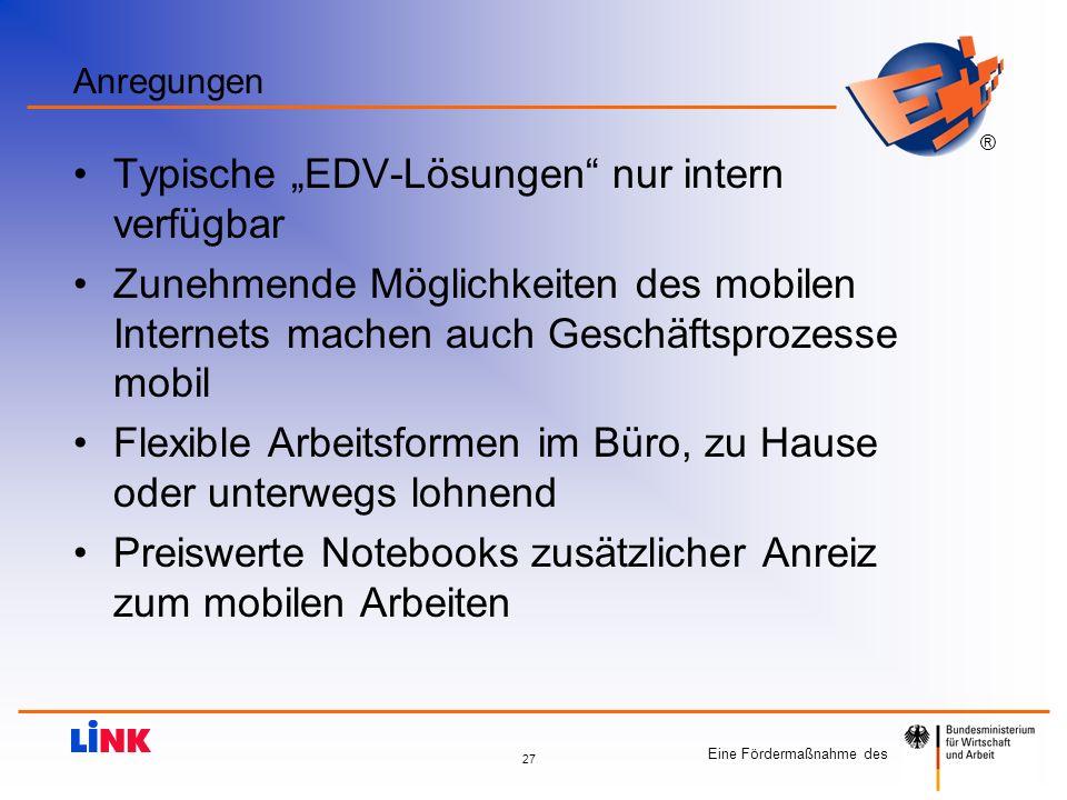 """Typische """"EDV-Lösungen nur intern verfügbar"""