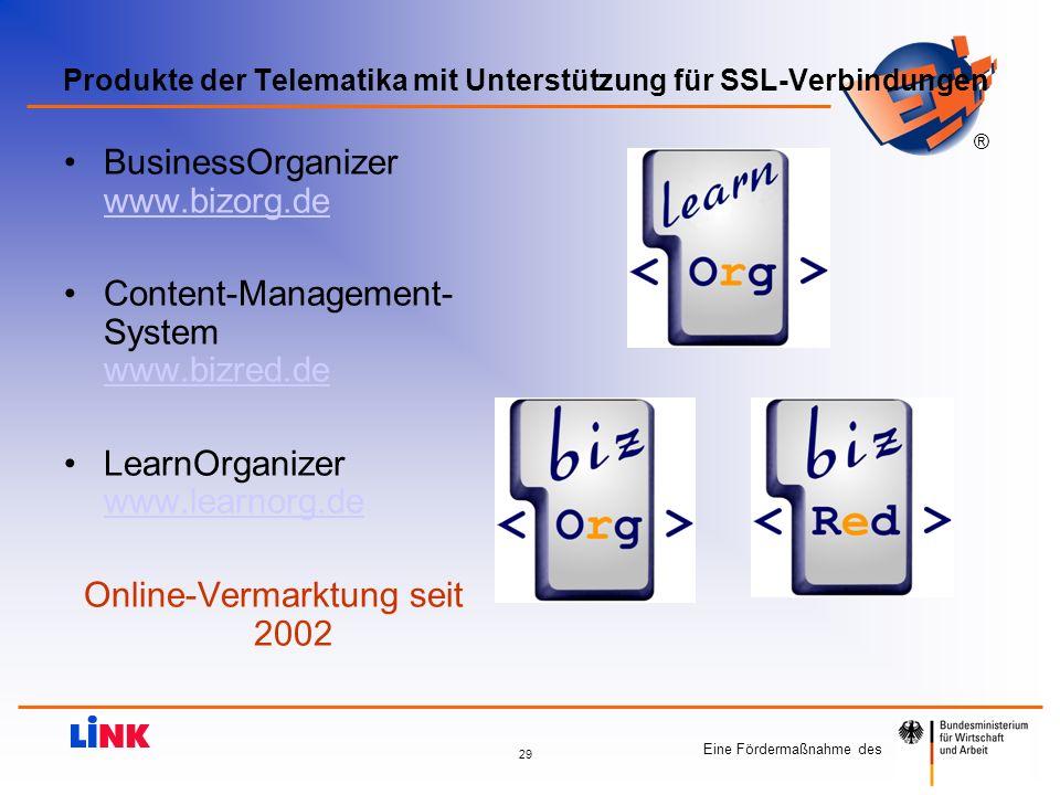Produkte der Telematika mit Unterstützung für SSL-Verbindungen