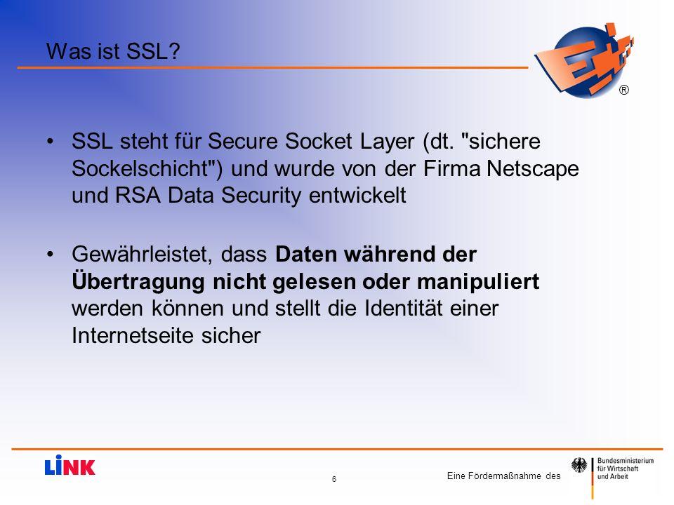 Was ist SSL SSL steht für Secure Socket Layer (dt. sichere Sockelschicht ) und wurde von der Firma Netscape und RSA Data Security entwickelt.
