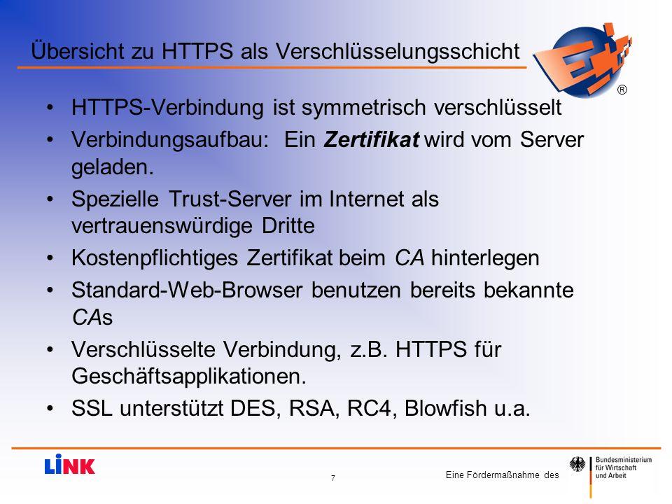 Übersicht zu HTTPS als Verschlüsselungsschicht