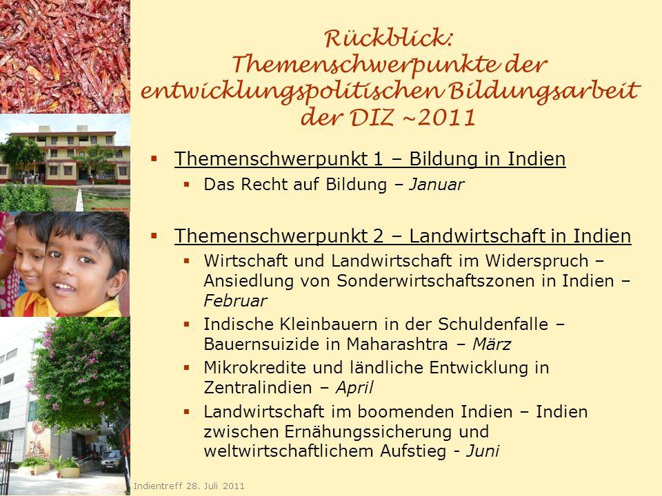 Rückblick: Themenschwerpunkte der entwicklungspolitischen Bildungsarbeit der DIZ ~2011