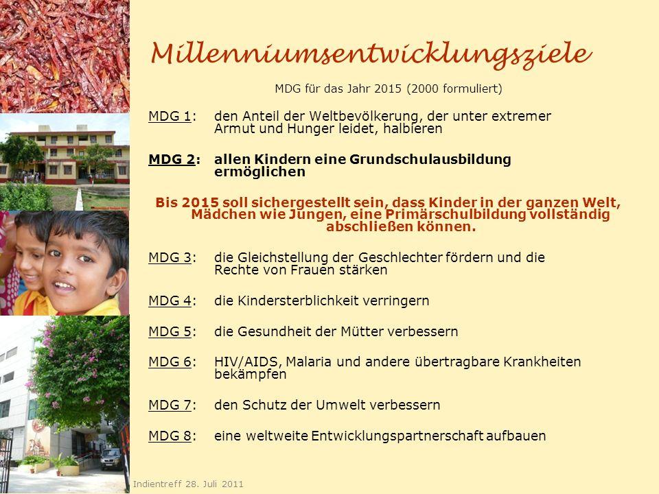 Millenniumsentwicklungsziele