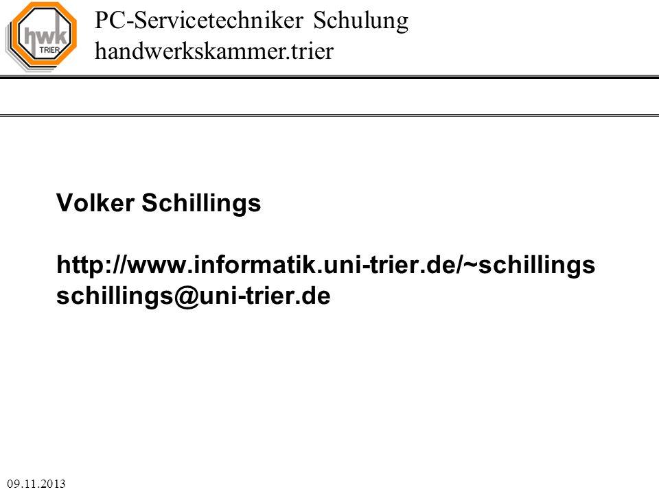 Volker Schillings http://www. informatik. uni-trier