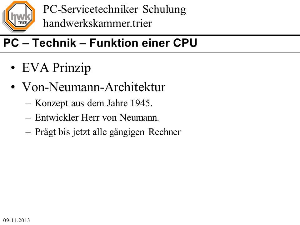 PC – Technik – Funktion einer CPU