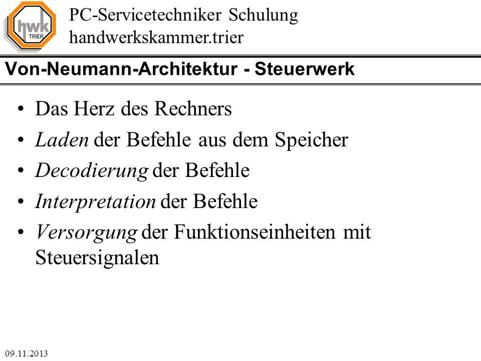 Von-Neumann-Architektur - Steuerwerk