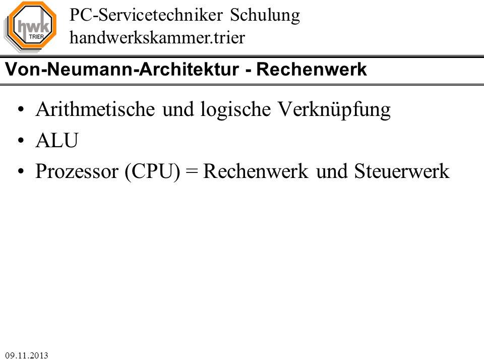 Von-Neumann-Architektur - Rechenwerk