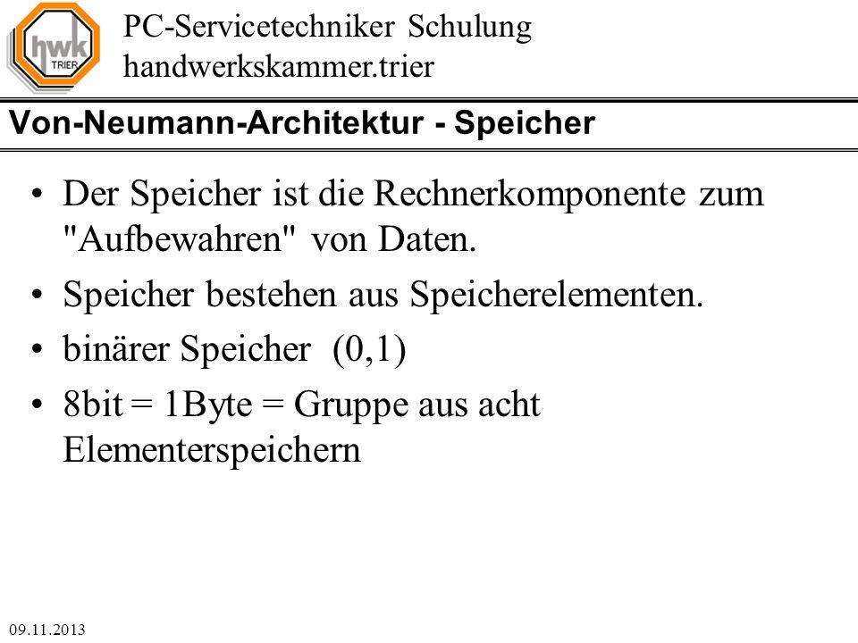 Von-Neumann-Architektur - Speicher