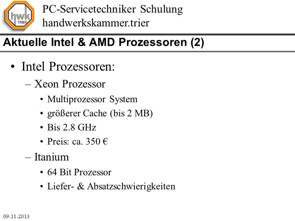 Aktuelle Intel & AMD Prozessoren (2)