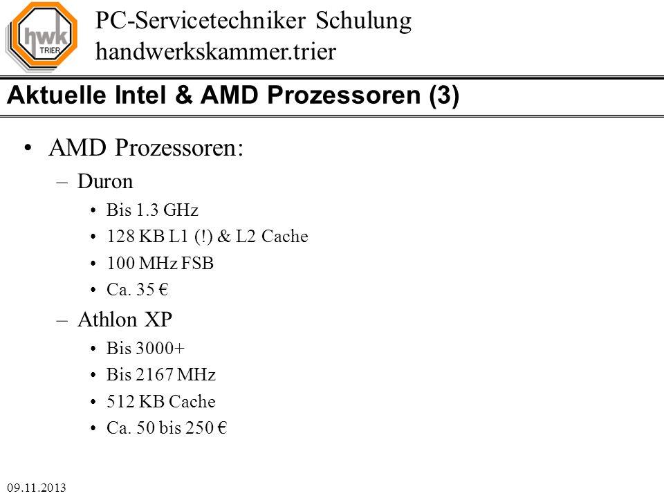 Aktuelle Intel & AMD Prozessoren (3)