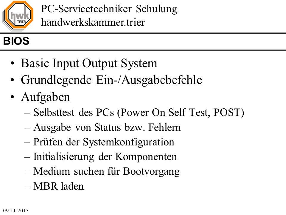 Basic Input Output System Grundlegende Ein-/Ausgabebefehle Aufgaben