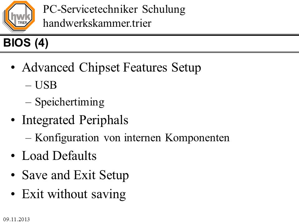 Advanced Chipset Features Setup