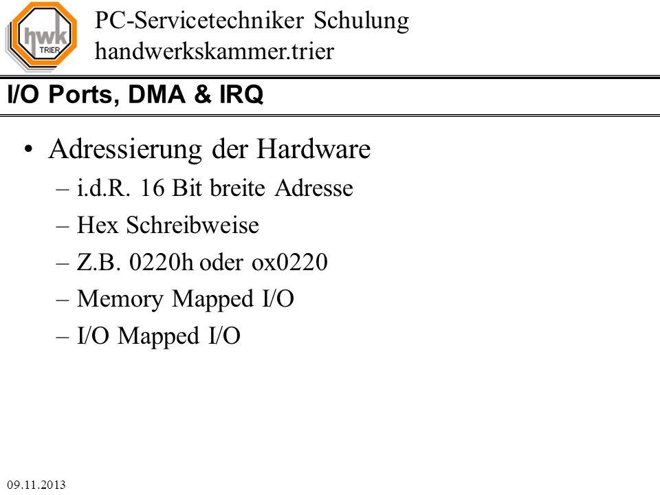 Adressierung der Hardware