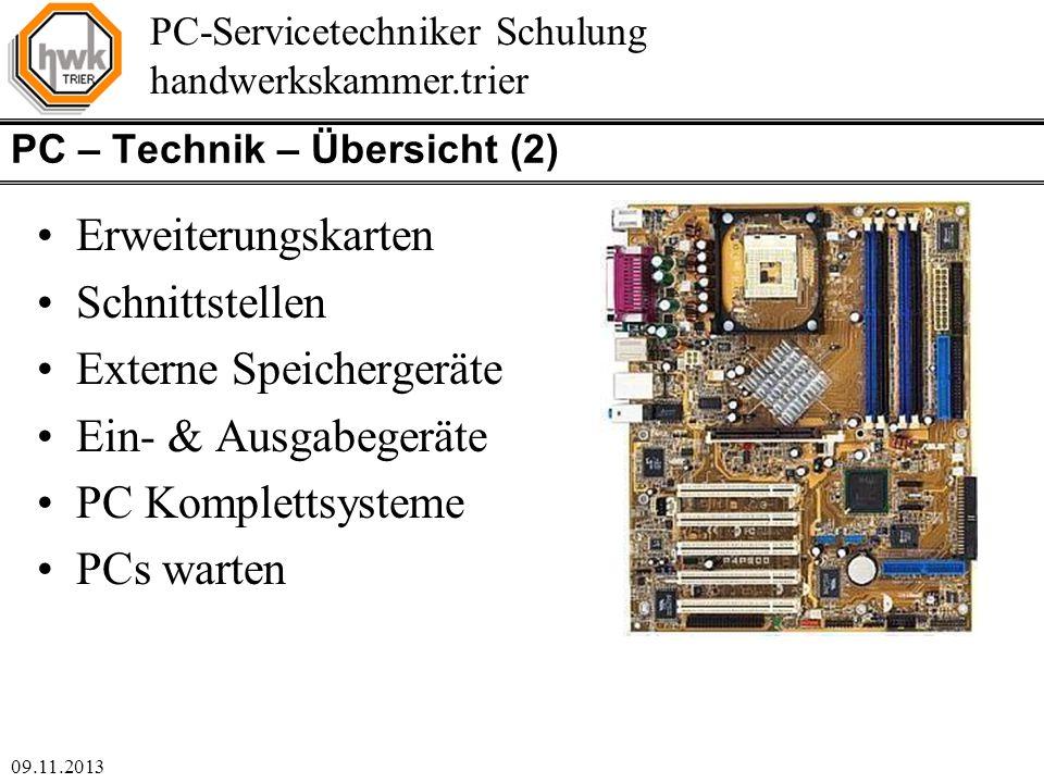 PC – Technik – Übersicht (2)
