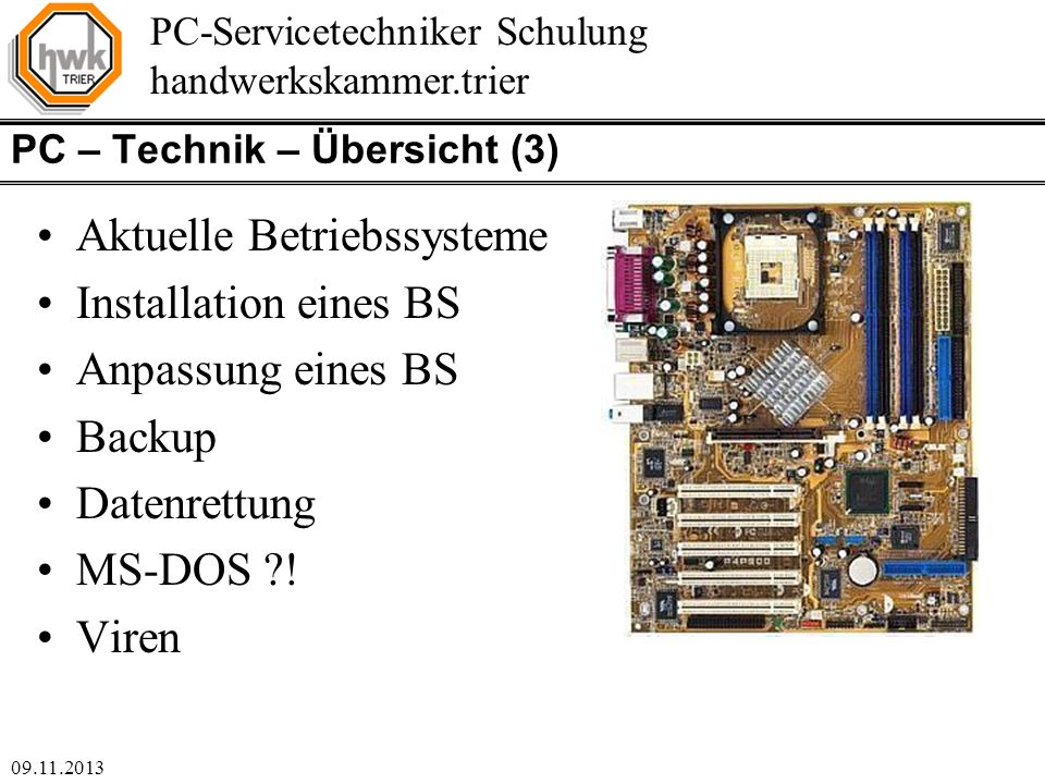 PC – Technik – Übersicht (3)