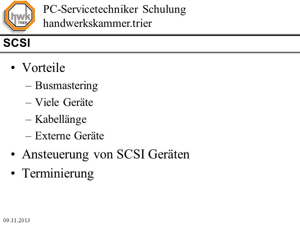 Ansteuerung von SCSI Geräten Terminierung