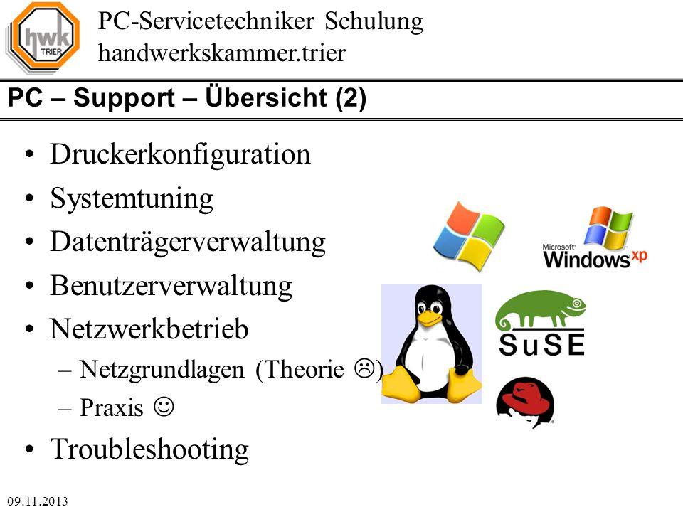 PC – Support – Übersicht (2)