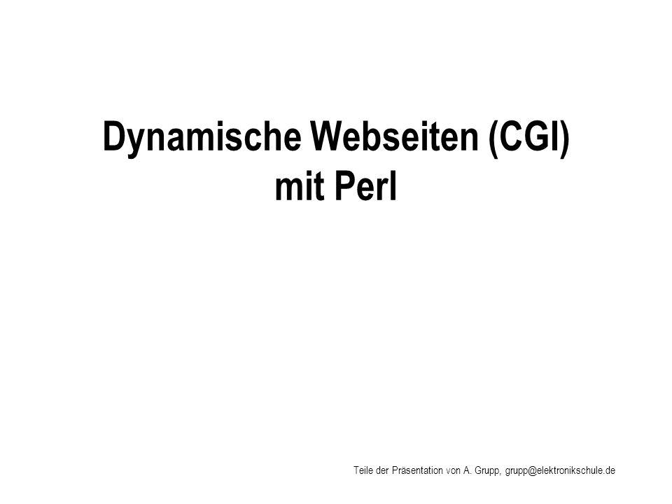 Dynamische Webseiten (CGI) mit Perl