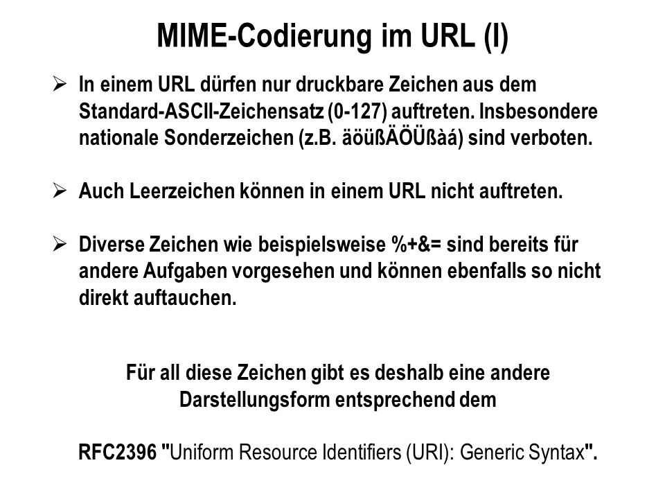 MIME-Codierung im URL (I)