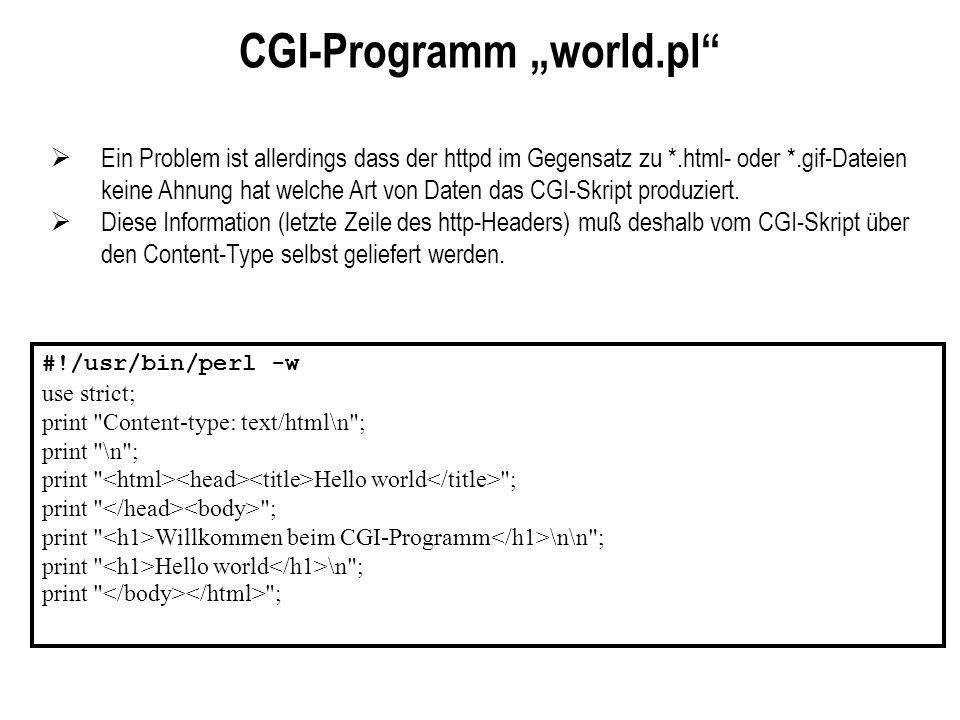 "CGI-Programm ""world.pl"