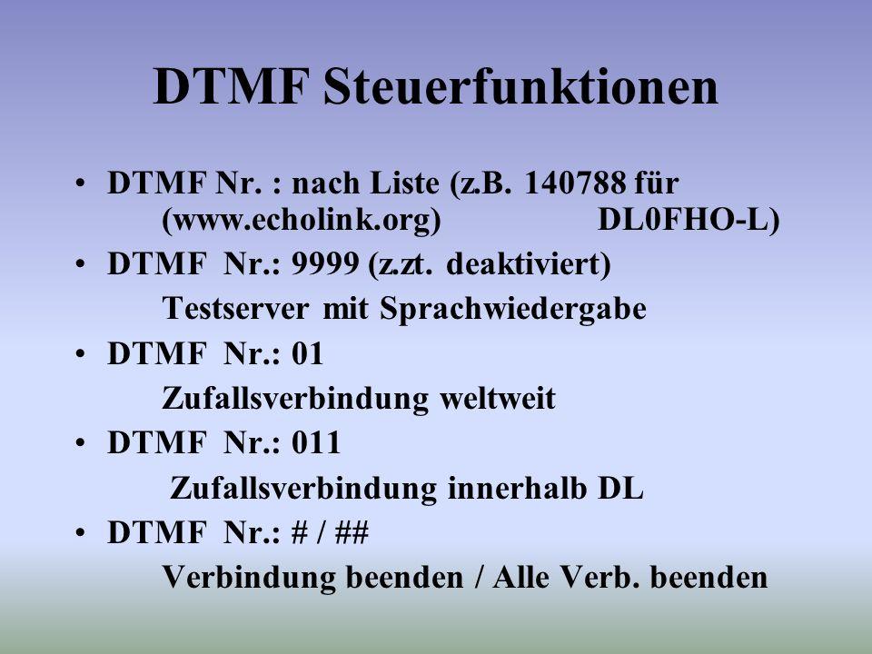 DTMF Steuerfunktionen