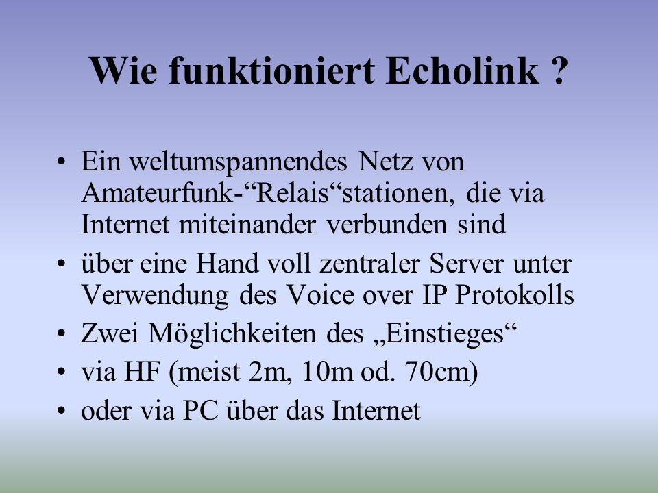 Wie funktioniert Echolink