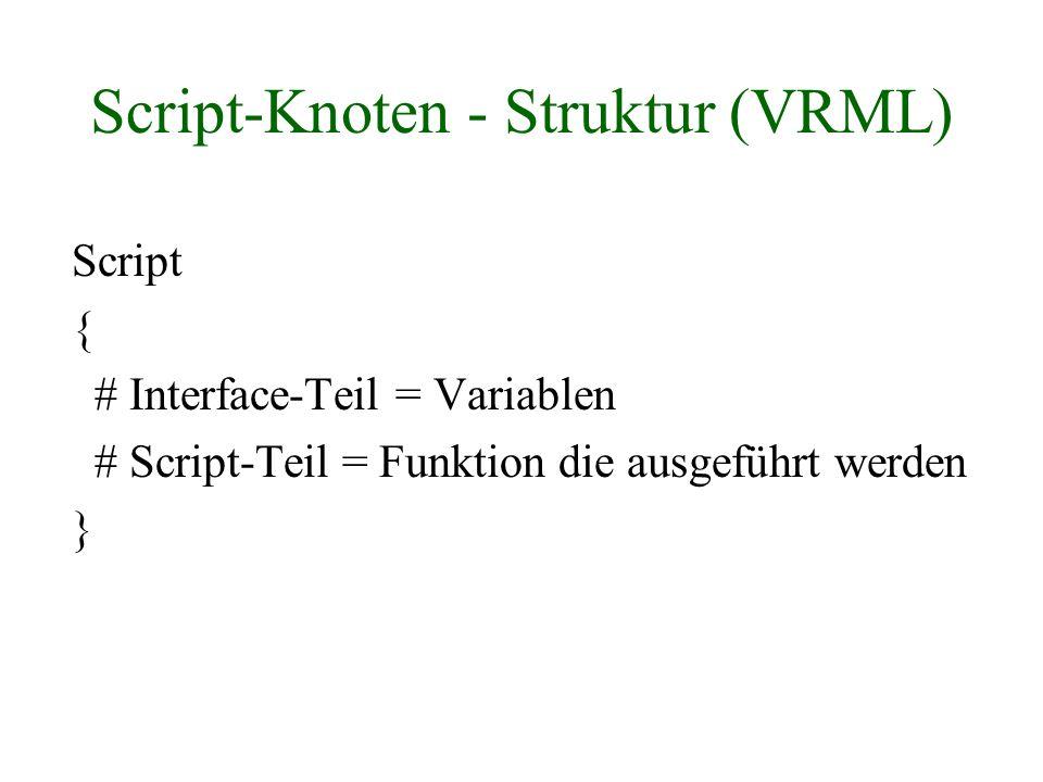 Script-Knoten - Struktur (VRML)