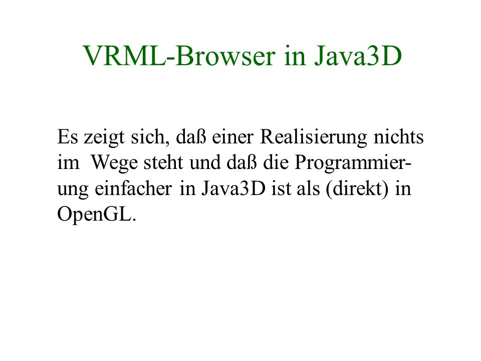 VRML-Browser in Java3D