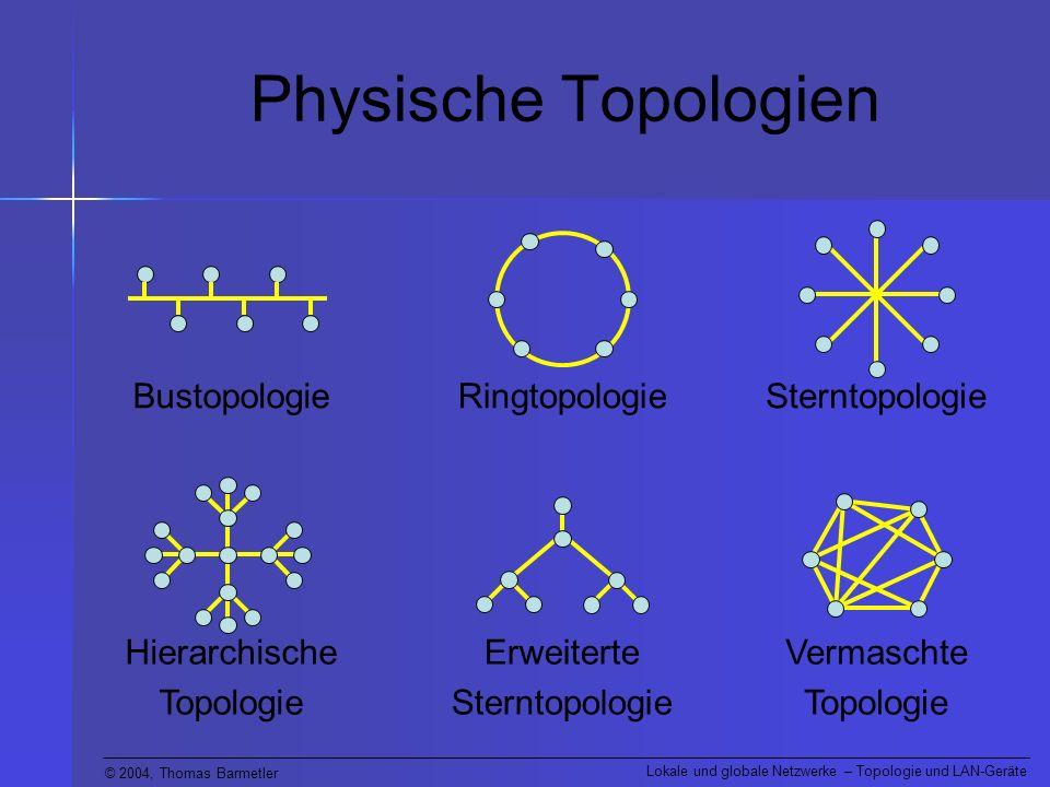 Physische Topologien Sterntopologie Ringtopologie Bustopologie