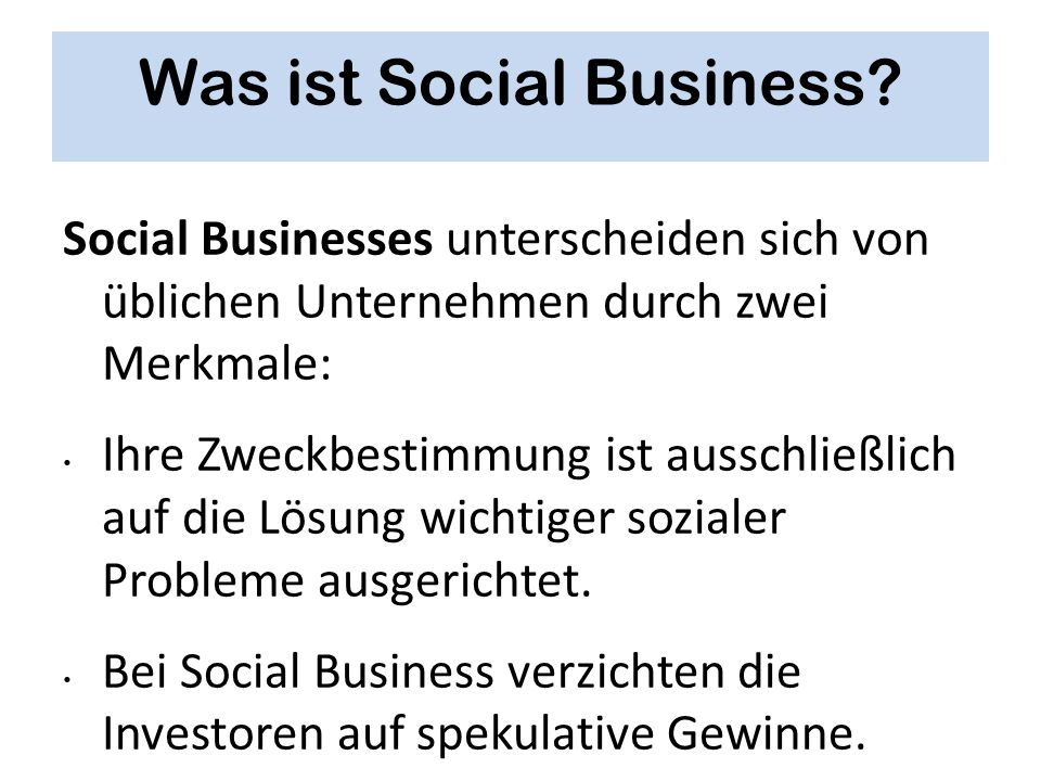Was ist Social Business