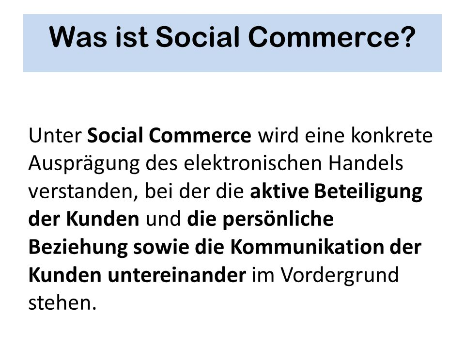 Was ist Social Commerce