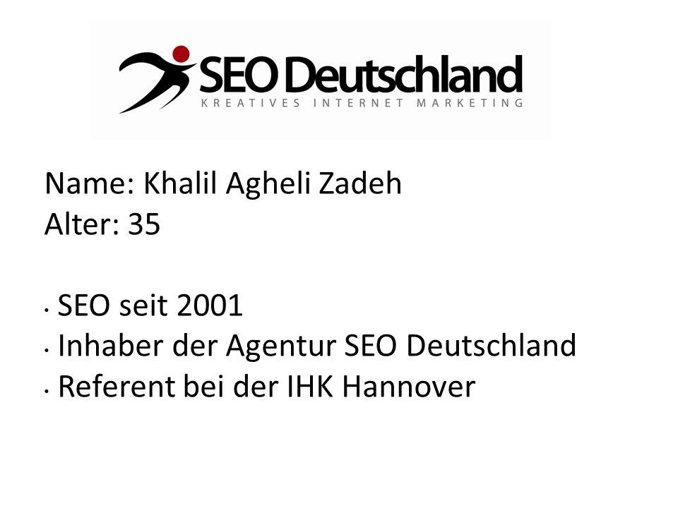 Name: Khalil Agheli Zadeh